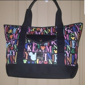 MICKEY AND MINNIE RAINBOW NAMES TOTE
